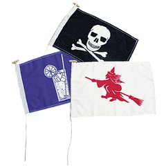 NOVELTY FLAG - WITCH 30 x 45cm