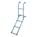 Folding Stainless Steel Ladders with Oval Steps